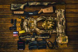 pistols, rifles, submachine guns, grenades, landmines, assault rifles, etc