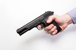 Best air pistol for target shooting isolated on a white background