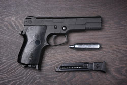 Black pneumatic pistol