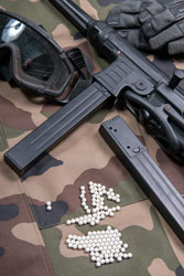 Airsoft gun with lot of bullets