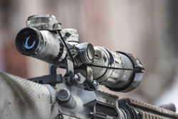 Best Airsoft Scope on the street with blurry background