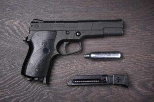 Black pneumatic pistol Premium