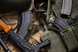 Kit ofmodernn russia military equipment