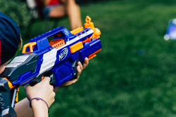 Pile of foam bullet for gun toy