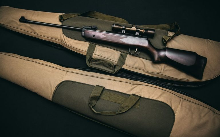 rifle in a bag