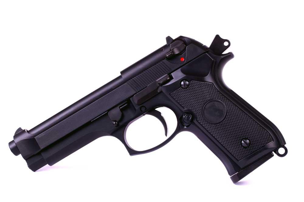 Isolated airsoft gun Premium Photo