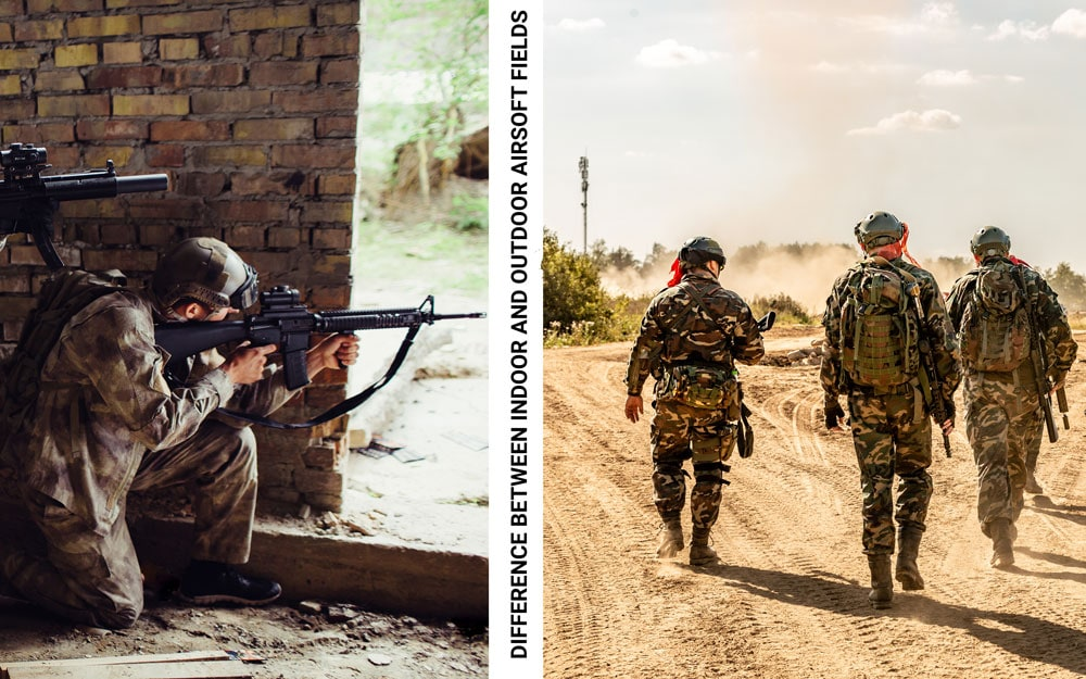 difference between indoor and outdoor airsoft fields