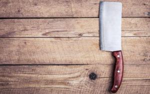 Old butcher knife
