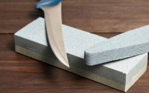 Oval and rectangular double layer sharpening stones