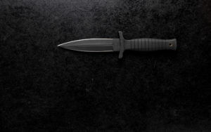 Closeup shot of a sharp army knife