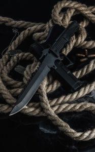 Solders combat 52100 Steel Knives