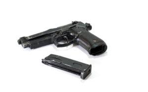 Air soft gun with magazines