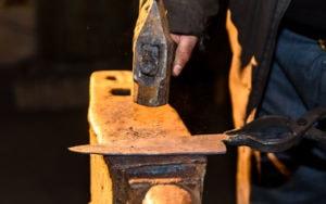Forging molten BDZ1 Steel