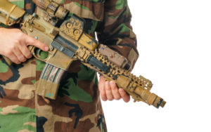 Man with airsoft