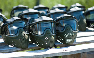 Special protective mask for playing paintball