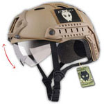 ATAIRSOFT PJ Type Tactical Multifunctional Fast Helmet with Visor Goggles