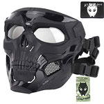 ATAIRSOFT Tactical Protective Adjustable Skull Full Face Mask for Airsoft