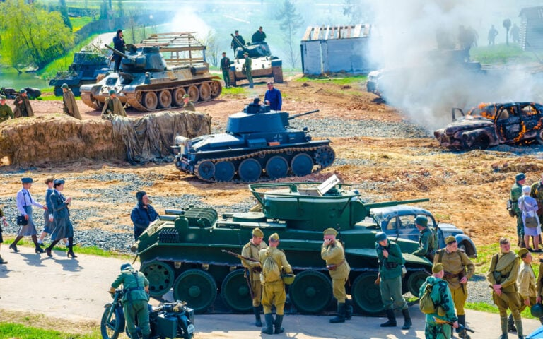 """Historical and cultural center """"stalin's line"""" organizers held events dedicated to the victory day"""
