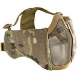 OneTigris 6″ Foldable Half Face Airsoft Mesh Mask with Ear Protection