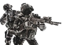Paratroopers of french 1st marine infantry parachute regiment rpima