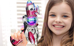 Laser Gun Set with Flashing LEDs and Sound Effects