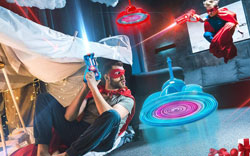 Laser Tag Gun Game with Flying Toy Drone Target
