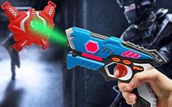 YOFIT Set of 4 Lazer Tag Toys, Infrared Laser Tag Set with Vests